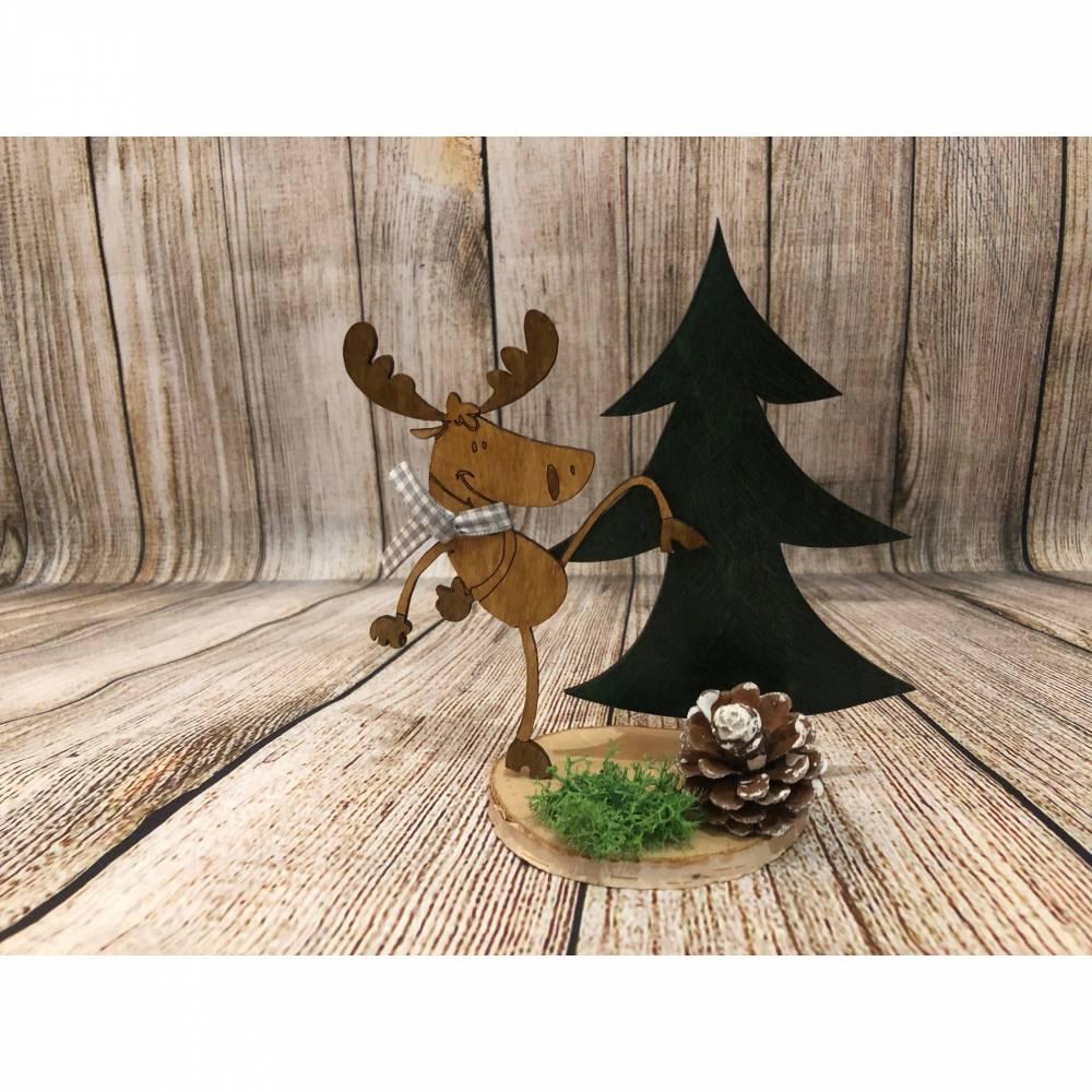 """Weihnachtsdeko Elch """"verrückter Willy"""" Bild 1"""