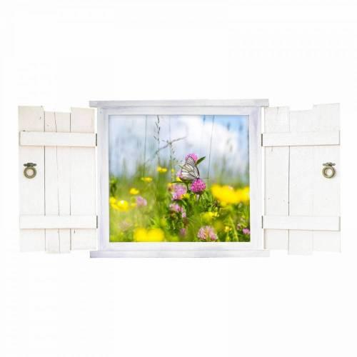 045 Wandtattoo Schmetterling im Fenster