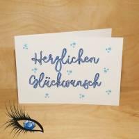 "[2019-0097] Klappkarte ""Happy Birthday / Geburtstag"" - handgeschrieben Bild 1"