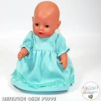 Puppen Outfit - Kleid in mint Bild 1