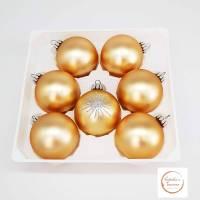 14 Weihnachtskugeln, Glaskugeln, gold  Chistbaumkugeln, Baumschmuck, Dekoration, Weihnachten, Advent Bild 1