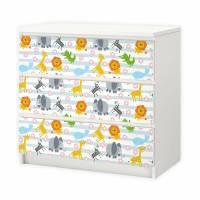 nikima - 015 Möbelfolie für IKEA MALM - Tiere Baby Bild 1
