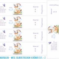 6 Baby - Sockenbanderolen: Lieblingssocken - Hirsch lila - personalisierbar   mit transparente Klebepunkte Bild 2