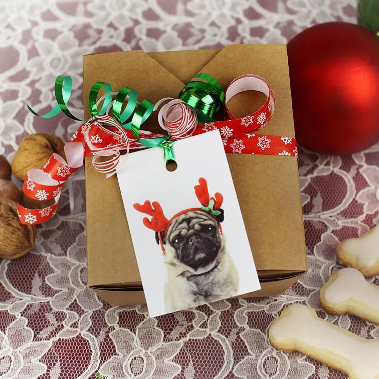 """10 Boxen + Geschenkanhänger """"Mopsige Weihnachten""""  Bild 1"""