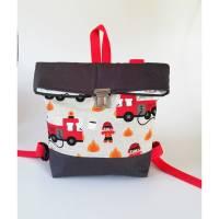 Rucksack, Kindergartentasche Feuerwehr, Handmade Bild 1