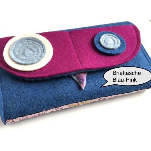 Damen Wollfilz-Brieftasche im Großformat, handmade