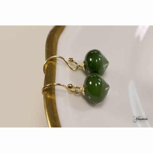Grüne Jade an 585er Gelbgold