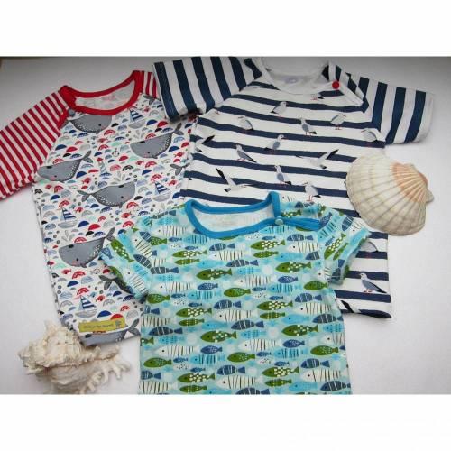 Urlaubs Maritim T-Shirt für Buben und Mädchen Größe 98, 9- 12 mo, Urlaubs T-shirt