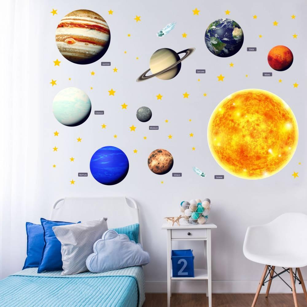 164 Wandtattoo Sonnensystem Planeten In 6 Grossen