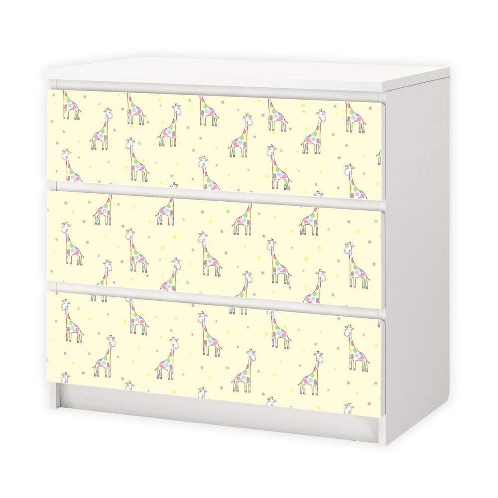 017 Möbelfolie für IKEA MALM - Giraffe Bild 1