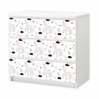 018 Möbelfolie für IKEA MALM - Einhorn -  3 Schubladen Aufkleber Sticker Klebefolie (Möbel nicht inklusive) Bild 1