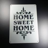 Schablone Home Sweet Home Schriftzug - BO73 Bild 1