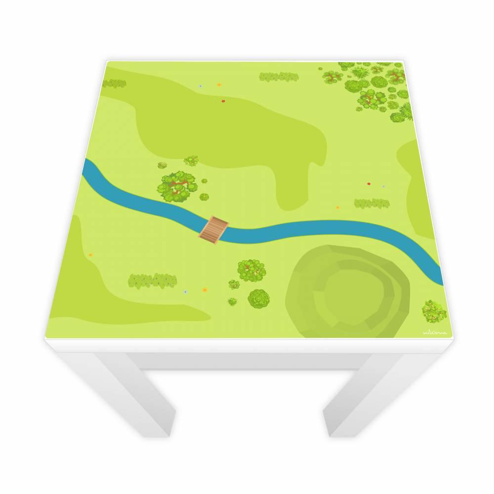 Spielfolie für LACK Tisch Wald & Wiese 55x55cm Bild 1