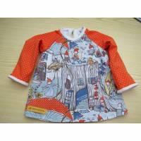 Baby T-shirt Zwergen Wald Öko Kleid Tunica in Gr 62-68, T-shirt Kleid, Baby Kleid, Zauber Wald Kleid, Zwergen Kleid, Bild 1