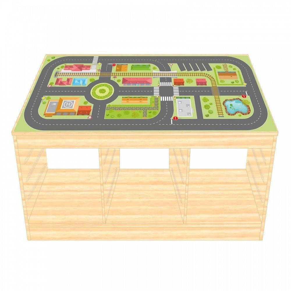 Spielfolie/ Möbelfolie für IKEA TROFAST HOLZ Stadtleben Aufkleber Sticker Kinderzimmer Spieltisch (Möbel nicht inklusive) Bild 1