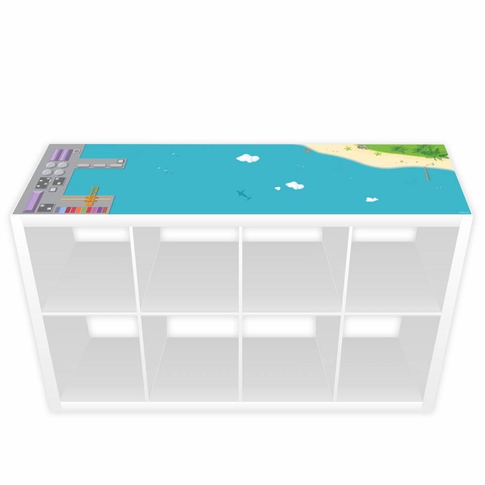 Spielfolie für KALLAX/ EXPEDIT lang Hafen & Insel Bild 1