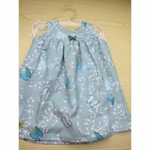 Mystische Bio Baumwolle Jersey Kleid minze Schmetterlings Kleidchen Größe 74-80, Jersey Kleidchen, suße , Mädchen Kleidchen Frühlings Kleid