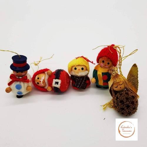 Vintage, 5 tlg. Christbaumschmuck, Baumschmuck für den Weihnachtsbaum, Dekoration, Geschenk, Weihnachten, Advent