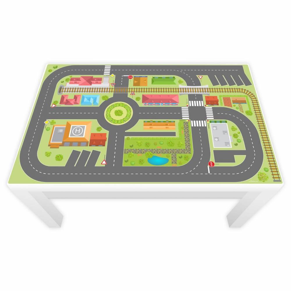 Spielfolie für LACK Tisch groß Stadtleben Bild 1