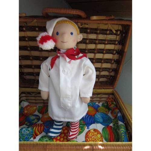 Stoffpuppe, Dorfner Hemadlenzn, Traumwandler Jonas Bubenpuppe Bayerische Puppe Faschingfest, Waldorf inspired,