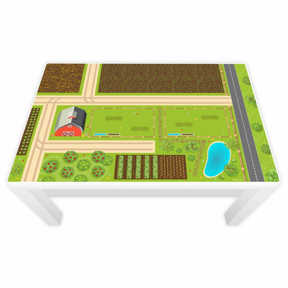 Spielfolie für LACK Tisch groß Bauernhof Bild 1