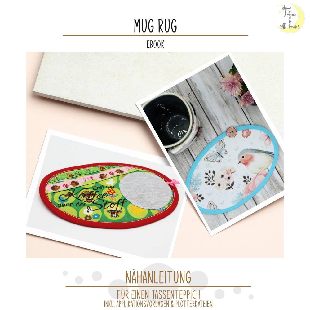 Nähanleitung Mug Rug - Tassenteppich, inkl. Applikations- und Plottervorlagen Bild 1