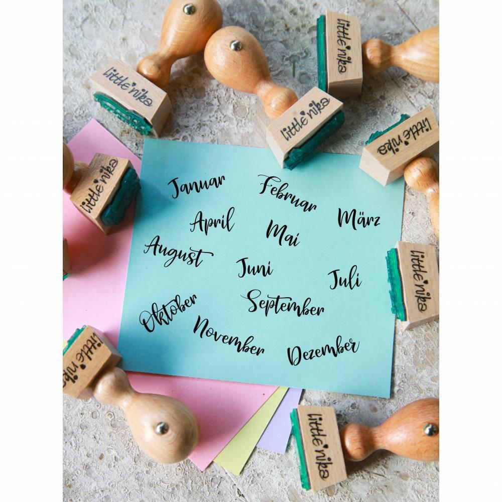 Stempel Set / alle Monate / bullet journal / Diary / Kalender /  Bild 1