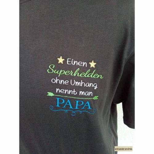 Besticktes Herren - T-Shirt SUPERHELD