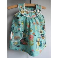 Gewächshaus Birch Kleid im türkis Tunica, Öko Kleid mit Tasche Kittel, Hängerchen Bild 1
