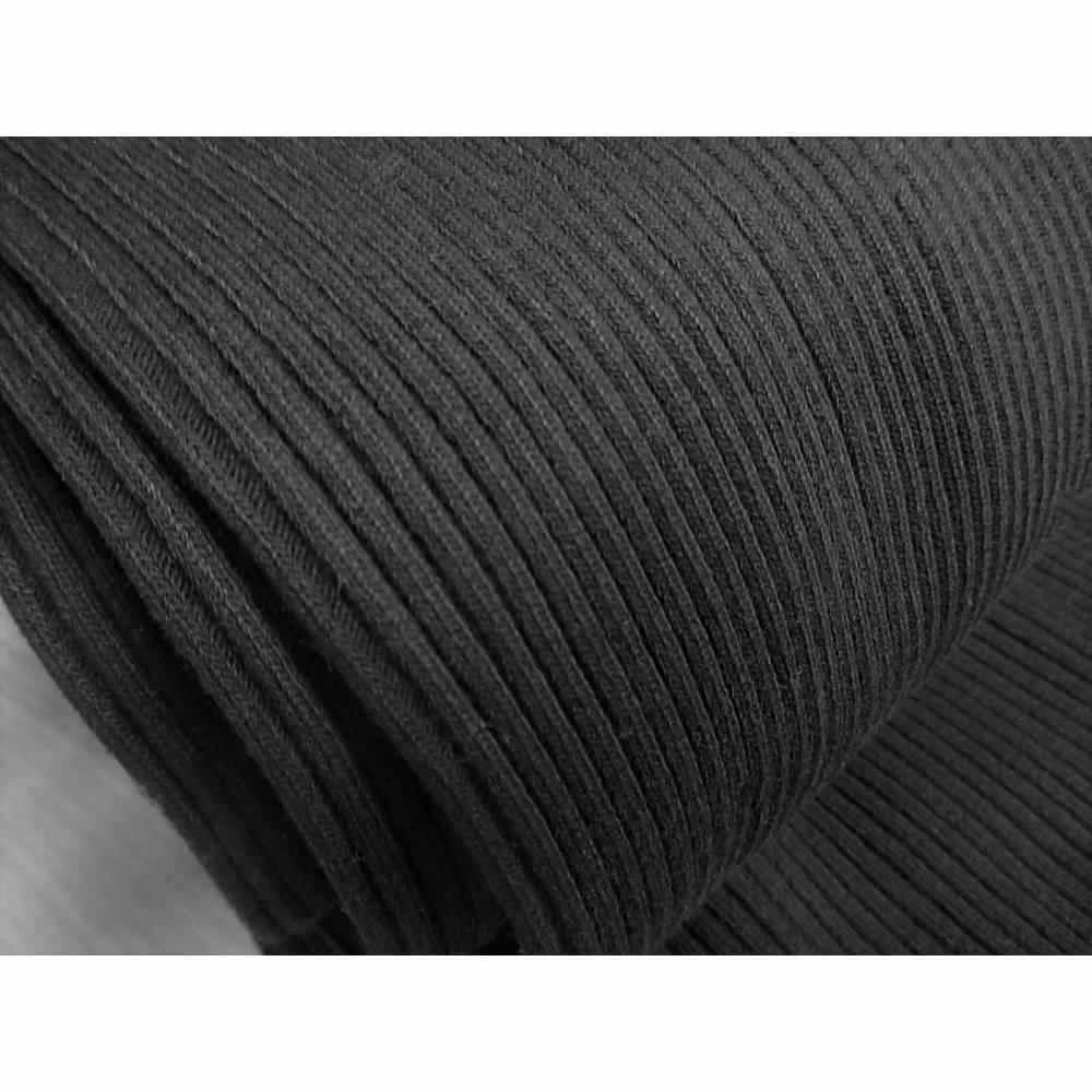 Bund, Grobstrick-Bündchen, Schlauchware,  schwarz (1m/12,-€) Bild 1