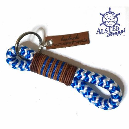 Schlüsselanhänger blau weiß Marke AlsterStruppi