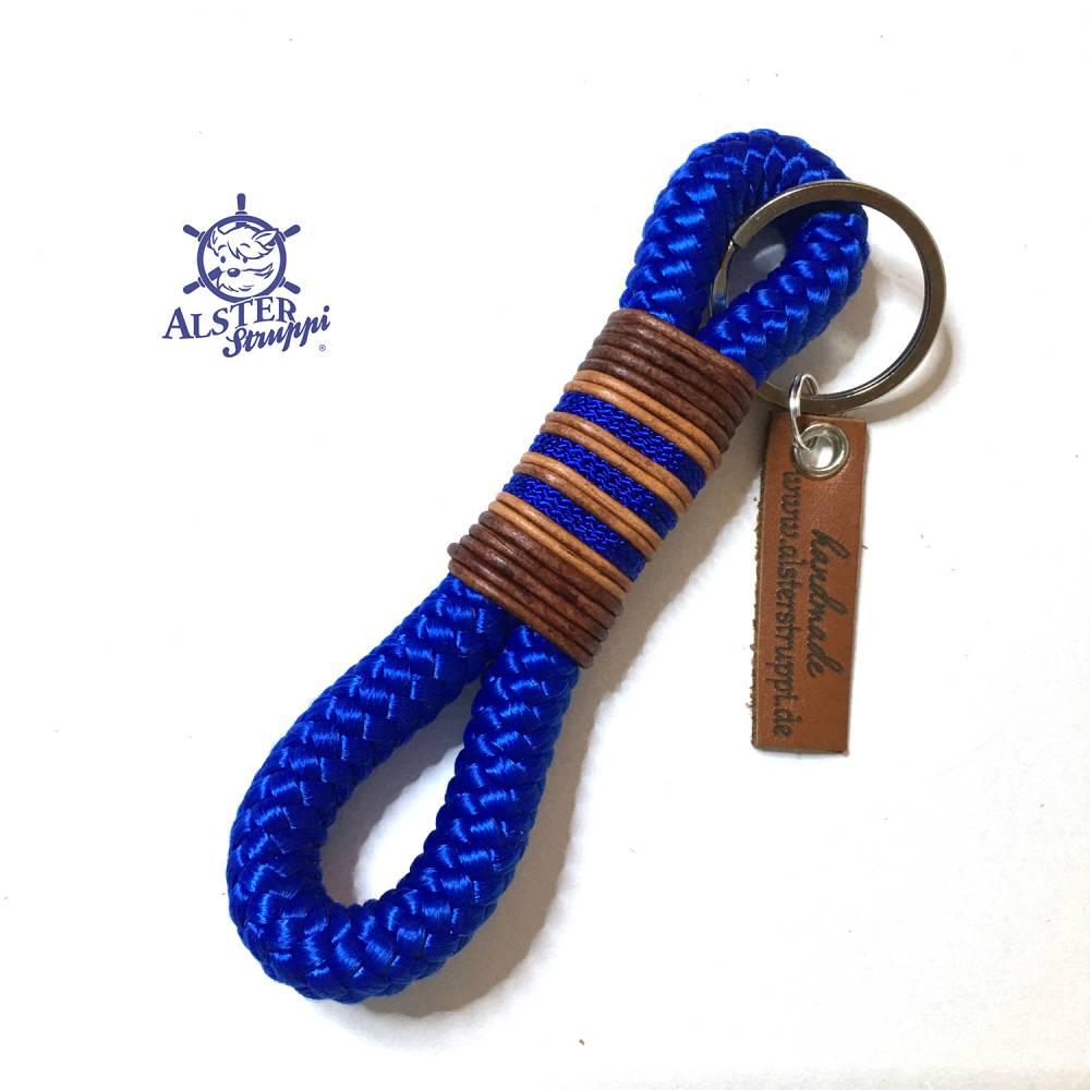 Schlüsselanhänger blau prima um einfach mal Danke zu sagen Bild 1
