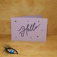 """[2019-0575] Klappkarte """"Hallo"""" - handgeschrieben Bild 1"""