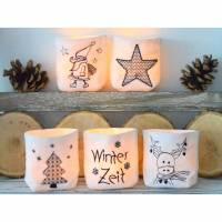 ITH Lichterbeutel klein Weihnachten für ein LED Teelicht Bild 1