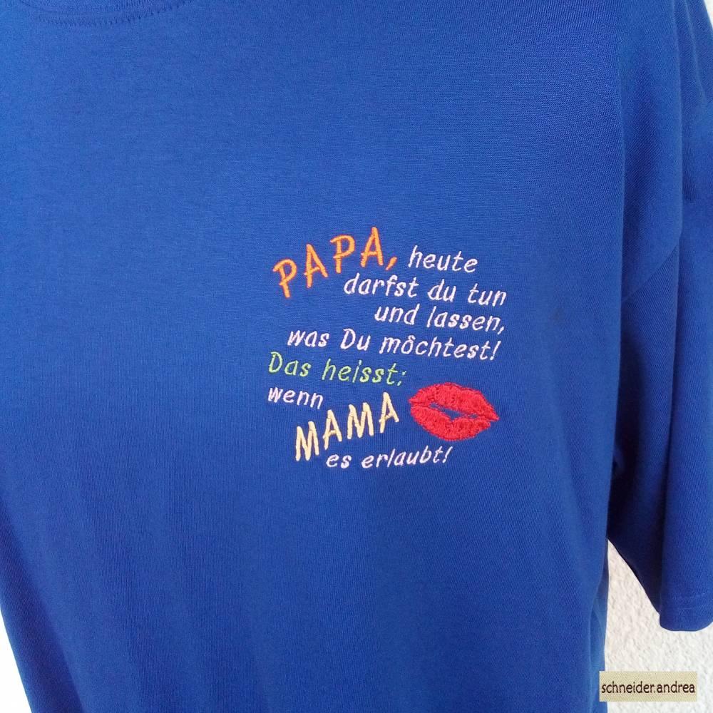 Besticktes Herren - T-Shirt PAPA Bild 1