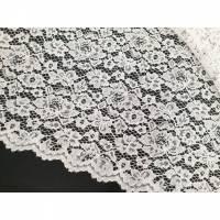 Lace Spitzen Stoff mit Borte weiss Bild 1