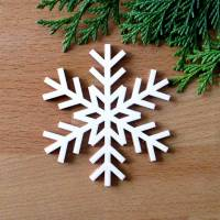 Schneeflocke Sibirien aus Holz