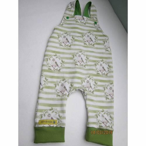 Öko-Strampler Vögeln für Babies hell grün Frühlings Strampler, Gr 68-72 Baby Strampler, Neugeborn
