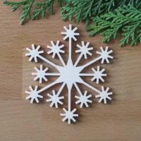 Schneeflocke Lappland aus Holz