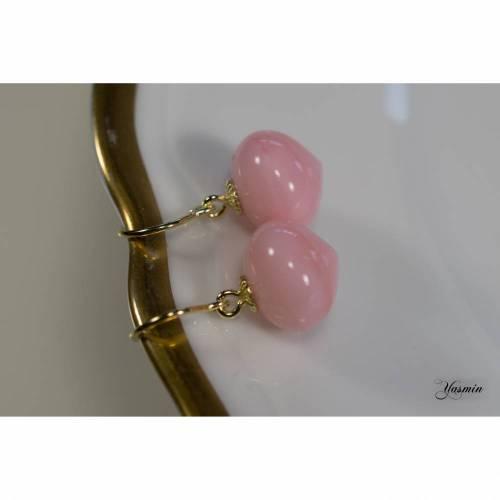 Rosa Opal an 585er Gelbgold