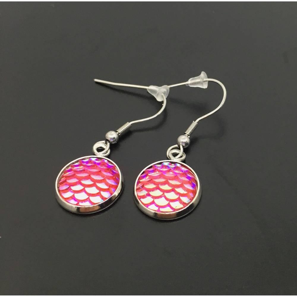 Ohrringe Meerjungfrau | Fischschuppen | pink Bild 1