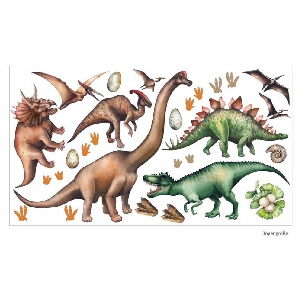 167 Wandtattoo Dinosaurier T Rex Triceratops