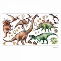 167 Wandtattoo Dinosaurier T-Rex, Triceratops, Stegosaurus - in 6 Größen - Kinderzimmer Wanddeko Wandbild Junge Bild 1