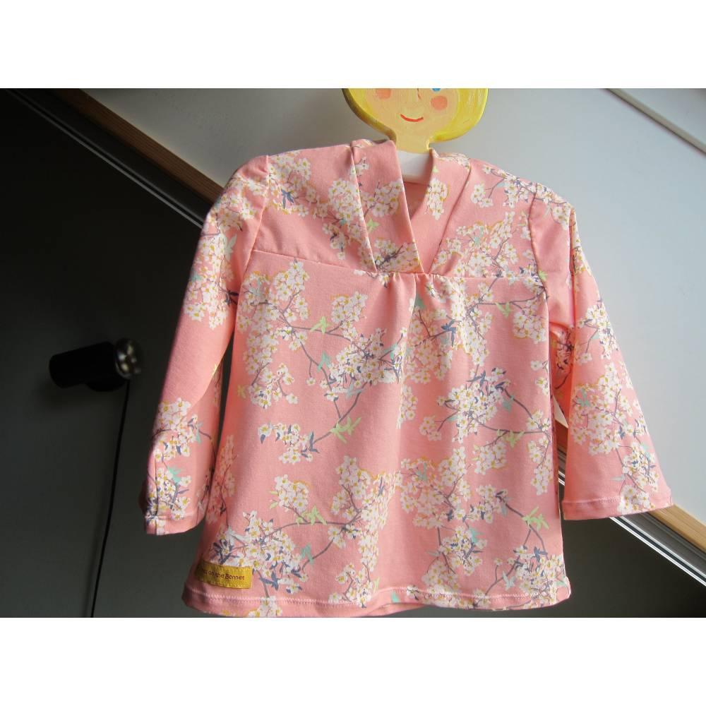Baby rosa Eco Mandel Blüten Kleidchen, Baby Tunika, T-shirt Kleid in Größe 62-68, Bild 1