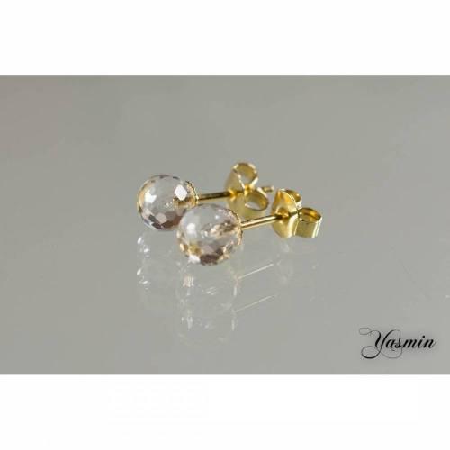 Pur / Bergkristall vergoldet sterling