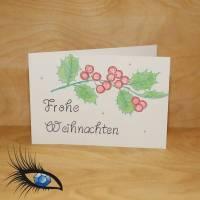 """[2019-0424] Klappkarte """"Merry Christmas / Weihnachten"""" - handgeschrieben + handgezeichnet Bild 1"""