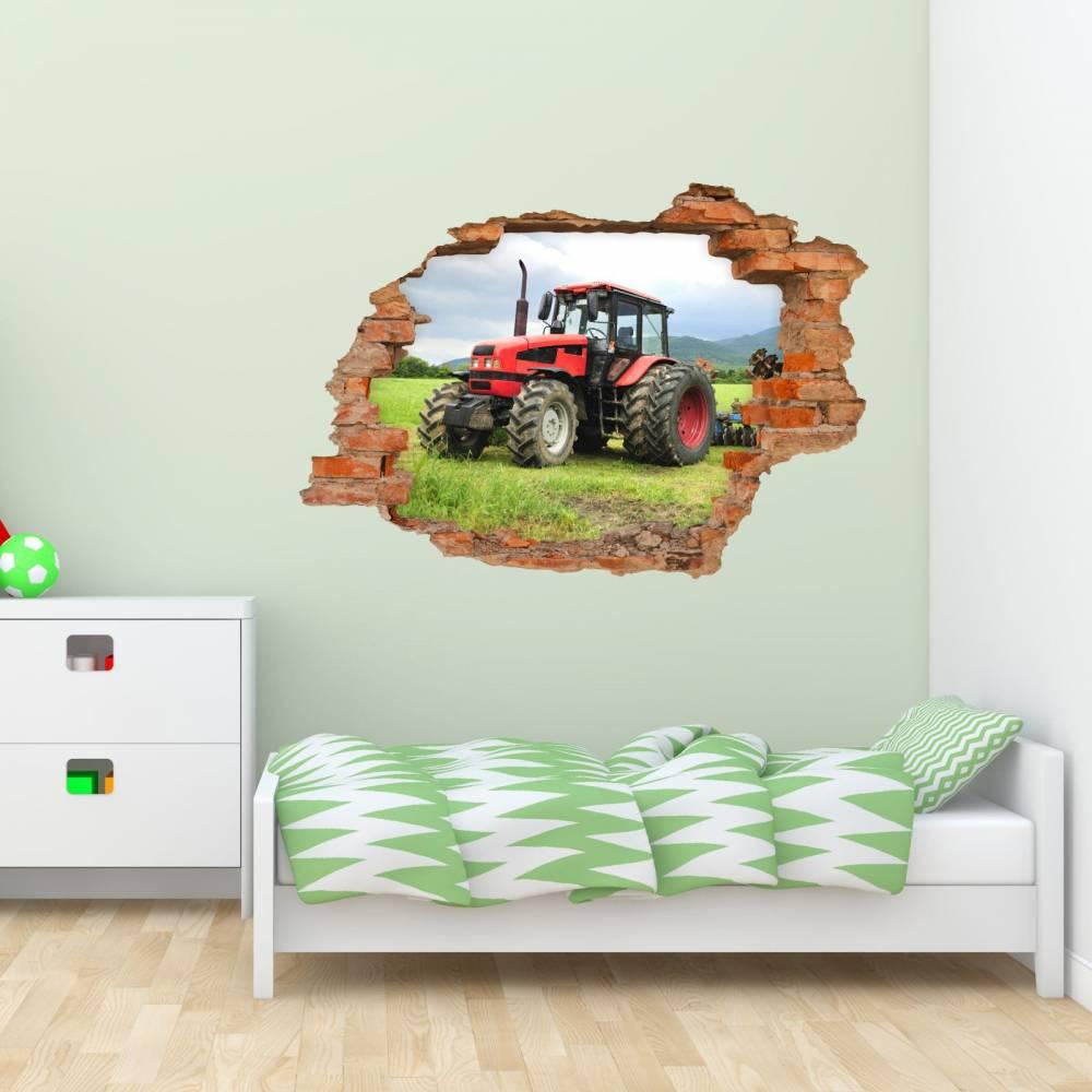 21 Wandtattoo Traktor   Loch in der Wand