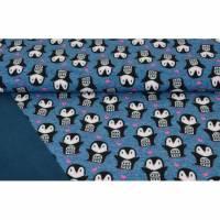 Softshell mit Pinguinen und Herzen in marine, dunkelblau