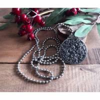Halskette mit Polaris-Anhänger grau, Damenschmuck Bild 1
