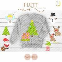 Christmas Buddies Plottervorlagen Komplett-Paket inkl. Sprüchen Bild 1